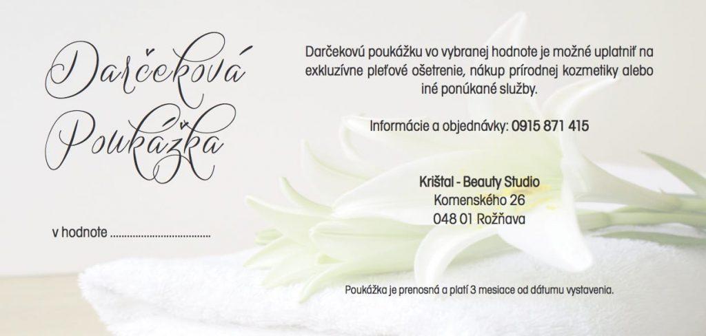 Kozemtický salón Kristal Beauty Studio poskytuje kompletné ošetrenia a služby spojené s omlaďovaním tváre a tela. Kristal Beauty Studio ponúka omlaďujúcue ošetrenie Mezoterapia, Hydra Beauty, Pleťové ošetrenia renomovanej značky Annemarie Börlind, ošetrenie mihalníc a obočia, chemický peeling Medik8, depiláciu tváre a tela, kozmetické masáže a kompletnú ponuku kozmetických výrobkov a doplnkov DADO SENS a Annemarie Börlind